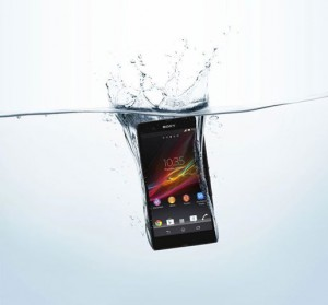 sony waterproof phone